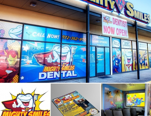 Mighty Smiles Window & Lobby Decor Design